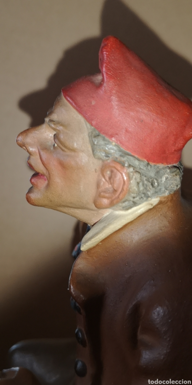 Arte: Figura realizada en terracota de Ignasi Buxo, principios del siglo veinte, le falta un dedo - Foto 10 - 152883618