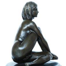 Arte: PRECIOSA ESCULTURA NUMERADA, DE DESNUDO FEMININO EN BRONCE DE 1ª. Lote 152973150