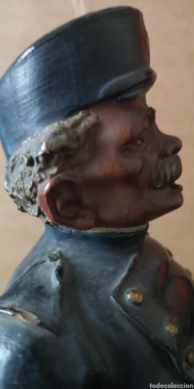 Arte: Antigua terracotta de olot firmado Buxo hermanos visera rota - Foto 5 - 153227574