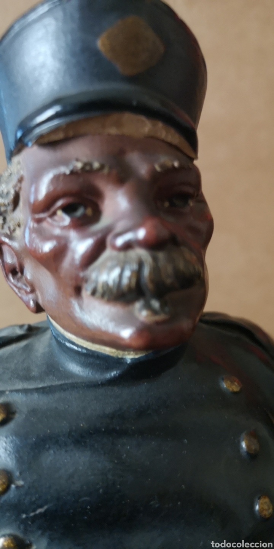 Arte: Antigua terracotta de olot firmado Buxo hermanos visera rota - Foto 6 - 153227574