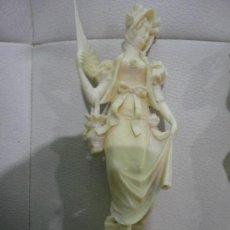 Arte: PAREJA ROMANTICA TALLA MARFIL (CON CERTIFICADO GAC). Lote 153756286