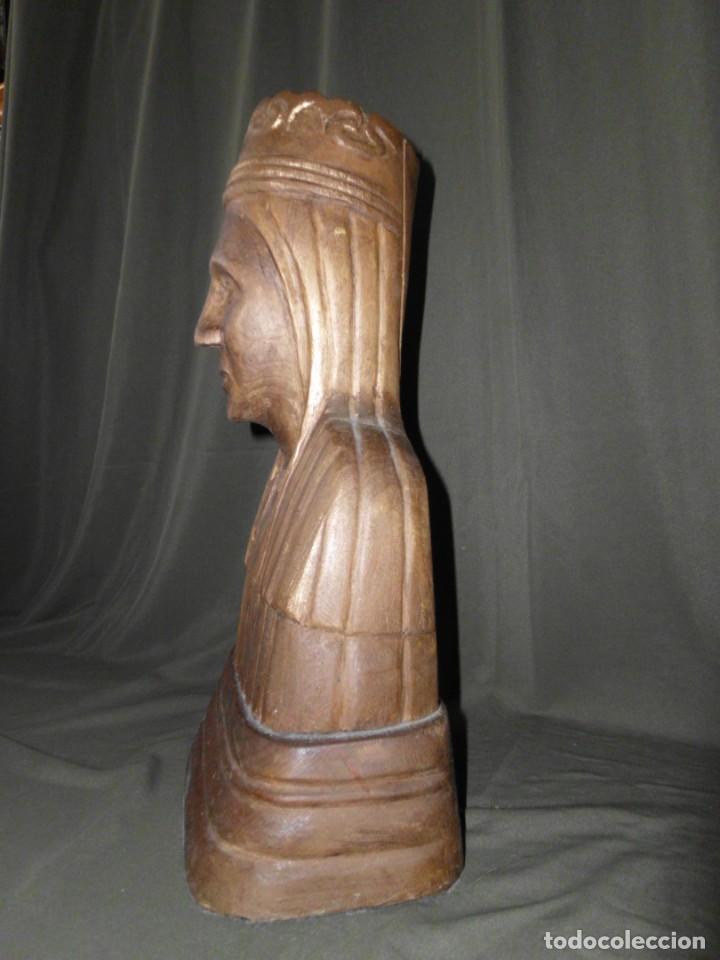 """Arte: Talla de madera por detrás dedicado """" Un Record de loncle Andreu 1974 """" - Foto 6 - 154830690"""