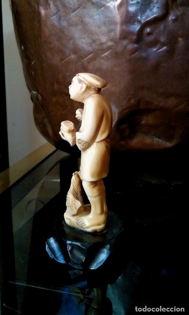 Arte: Escenas costumbristas. Marfil de elefante. (Años 30-40) - Foto 8 - 146642198