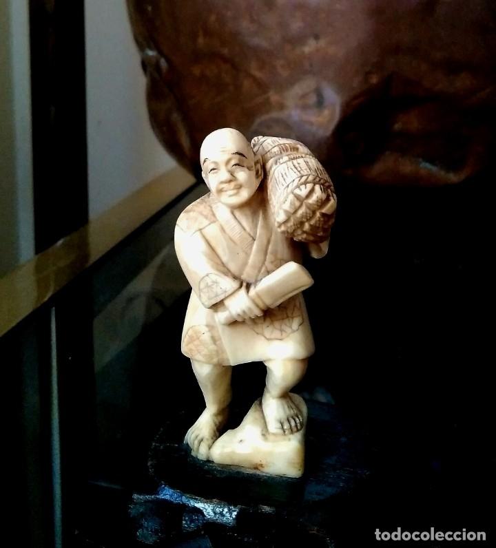 Arte: Escenas costumbristas. Marfil de elefante. (Años 30-40) - Foto 10 - 146642198
