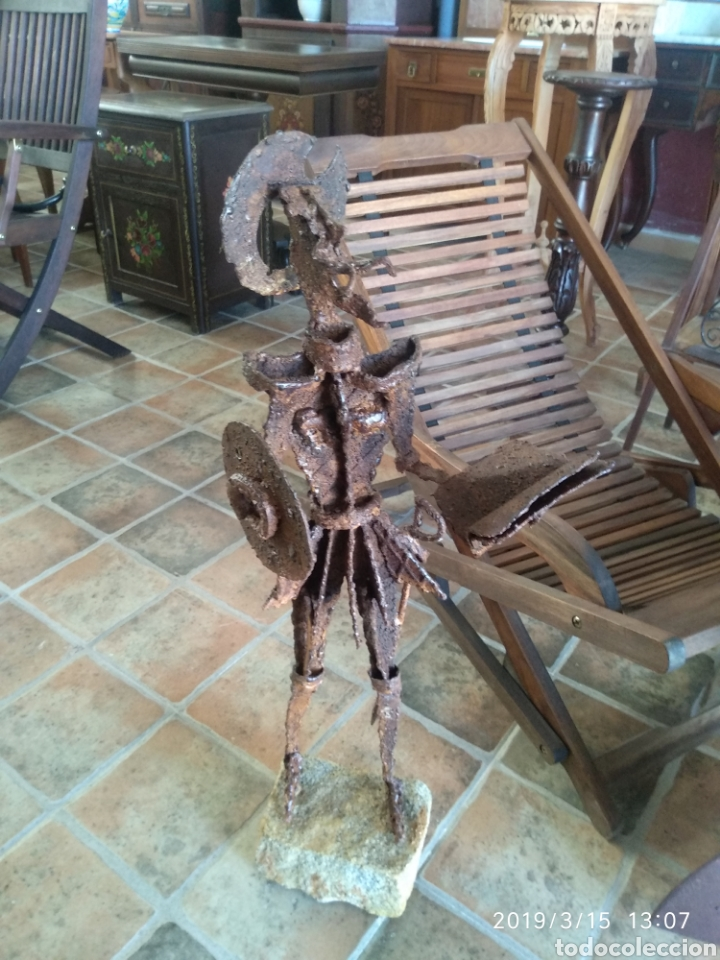 Arte: Escultura don quijote de la mancha en hierro por julio corrales bravo - Foto 2 - 155240820