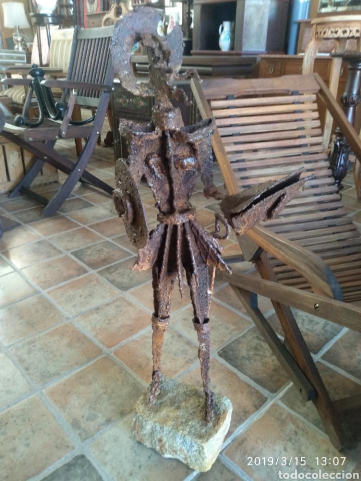 Arte: Escultura don quijote de la mancha en hierro por julio corrales bravo - Foto 3 - 155240820