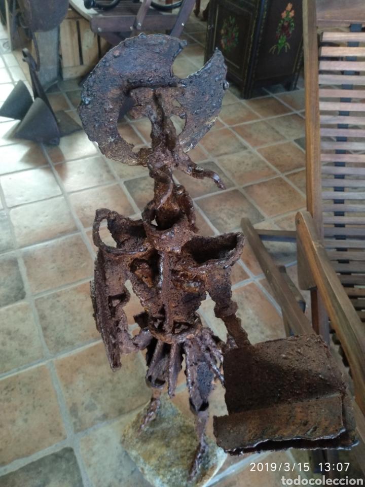 Arte: Escultura don quijote de la mancha en hierro por julio corrales bravo - Foto 4 - 155240820