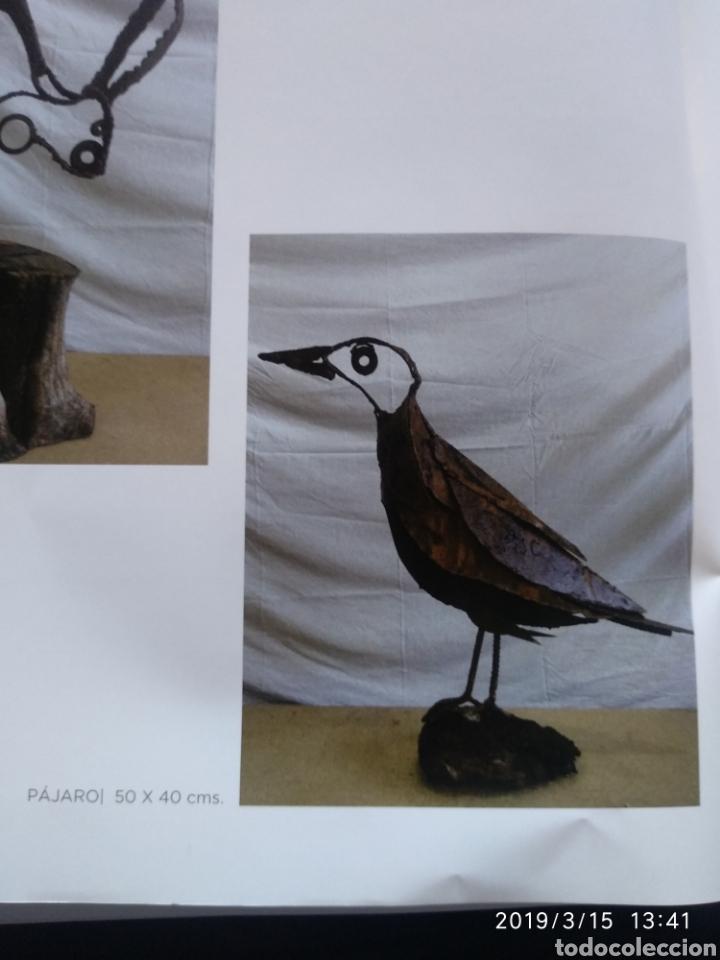 Arte: Escultura pajaro cuervo en hierro por julio corrales bravo - Foto 4 - 155241669