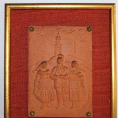 Arte: RELIEVE DE TERRACOTA DANSES DE VILANOVA FIRMADO F. CLARAMUNT LACUEVA Nº20/50. Lote 155452762