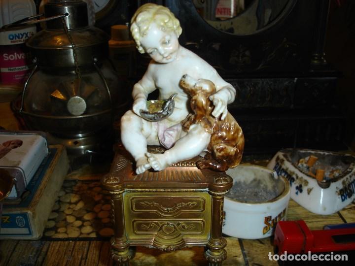 EXCEPCIONAL FIGURITA EN PORCELANA DE SEVRES EPOCA IMPERIO VER FOTOS DE COLECCION (Arte - Escultura - Porcelana)