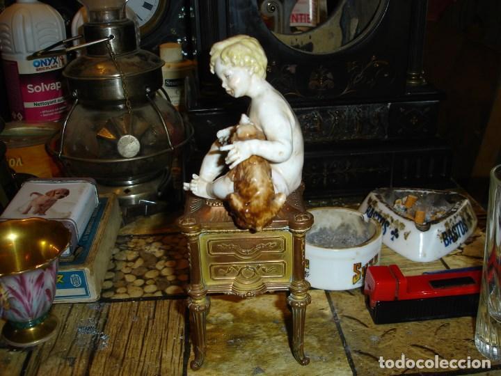 Arte: excepcional figurita en porcelana de sevres epoca imperio ver fotos de coleccion - Foto 4 - 155518746