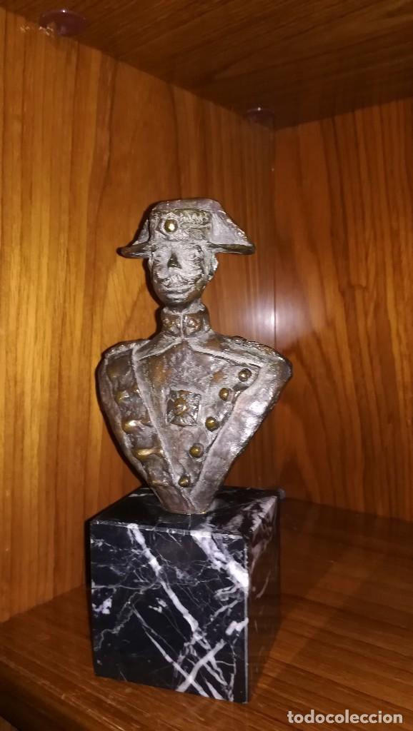 BUSTO CON PEANA DE GUARDIA CIVIL (Arte - Escultura - Bronce)