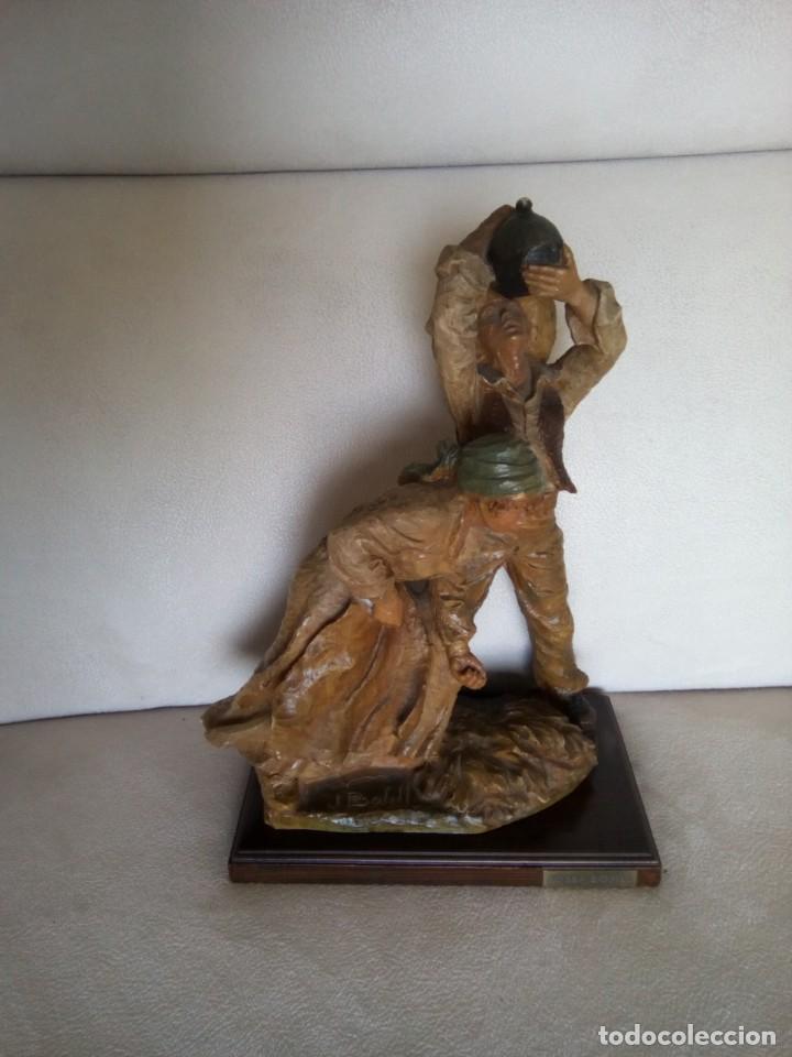 *JOSEP BOFILL. CAMPESINOS. J. BOFILL. (RF:BM/A*) (Arte - Escultura - Resina)