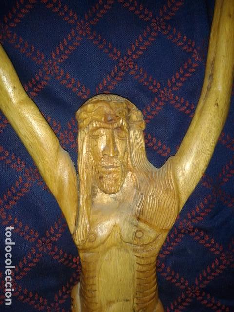 Arte: CRISTO TALLADO EN MADERA - Foto 3 - 157463006