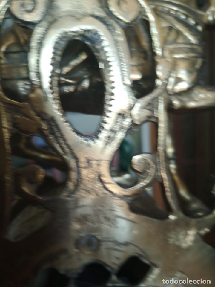 Arte: Reloj y candelabro de bronce - Foto 6 - 157829318