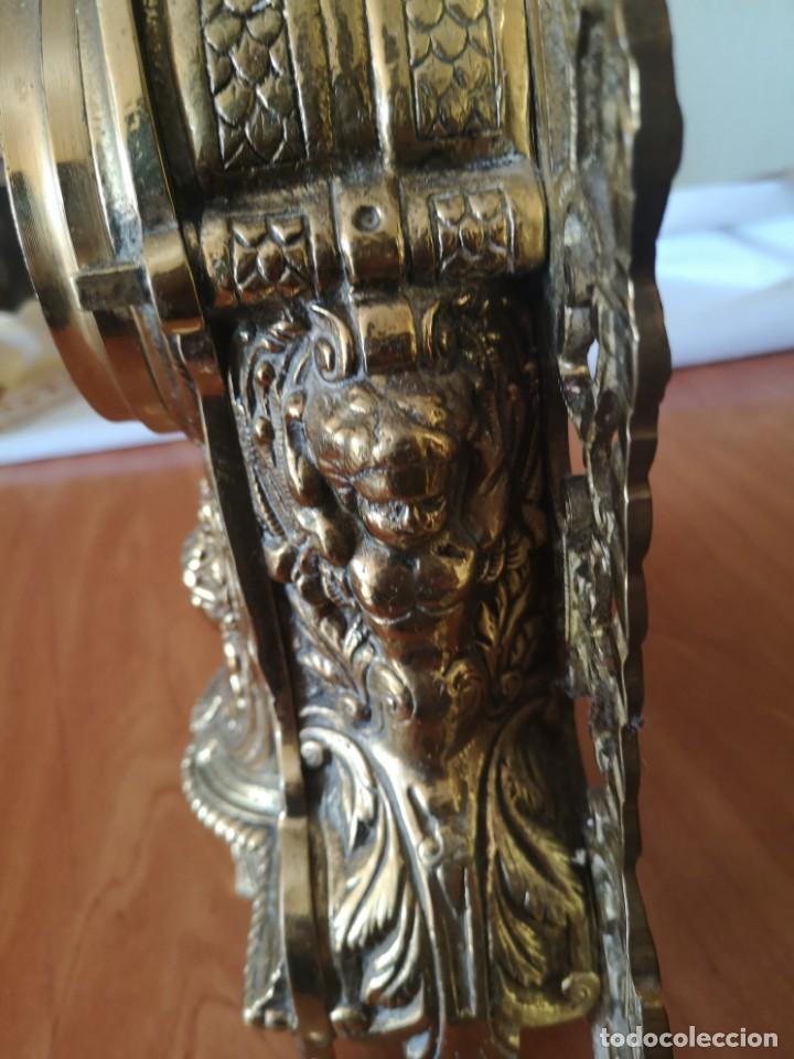 Arte: Reloj y candelabro de bronce - Foto 9 - 157829318