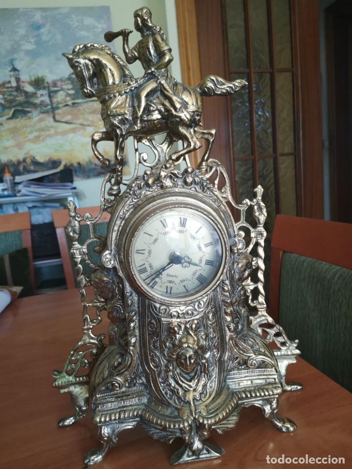 Arte: Reloj y candelabro de bronce - Foto 11 - 157829318