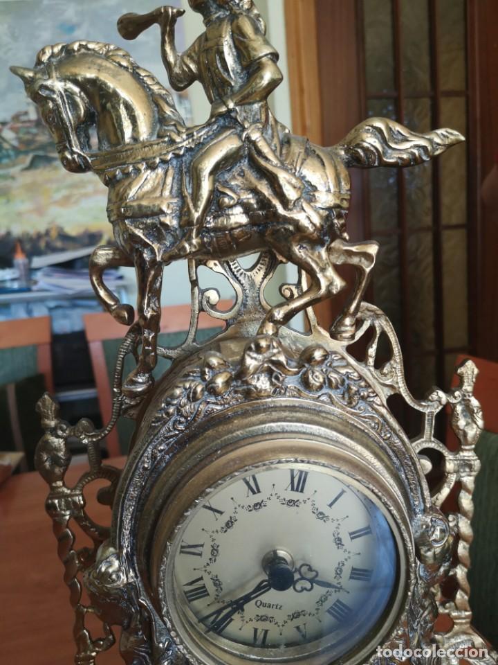 Arte: Reloj y candelabro de bronce - Foto 12 - 157829318