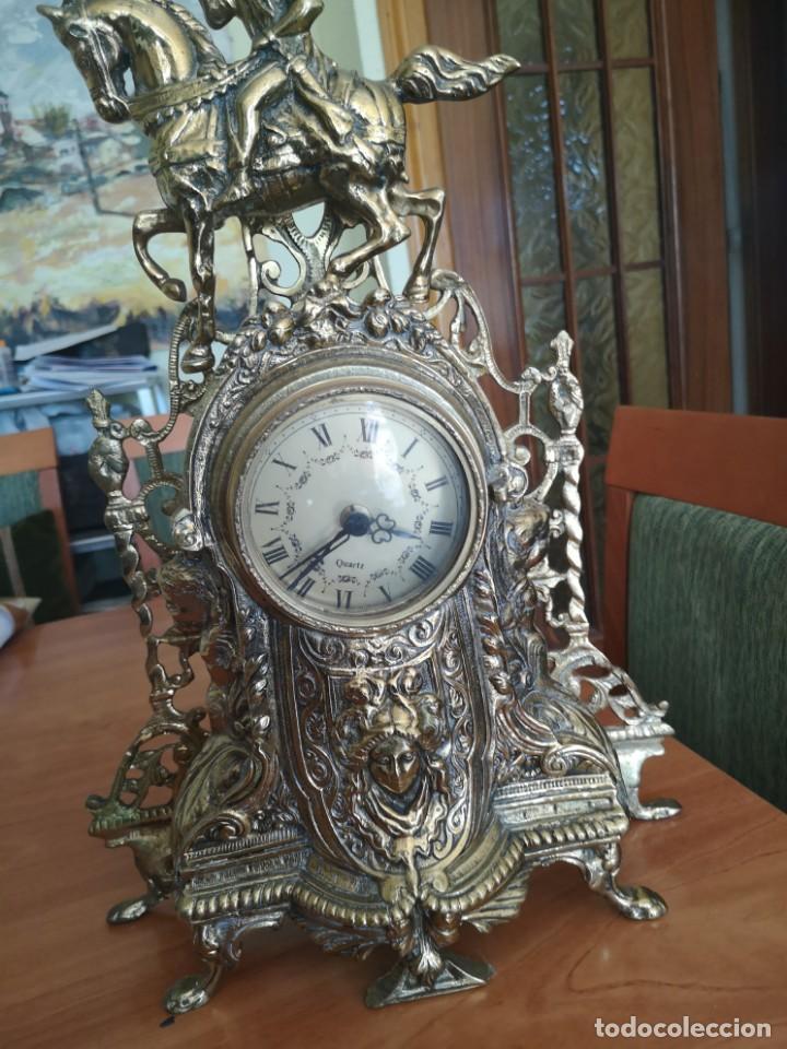 Arte: Reloj y candelabro de bronce - Foto 14 - 157829318