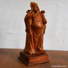 Arte: LU XING * SABIO CHINO ANCIANO ORIENTAL TALLA EN MADERA * DIOS DEL ÉXITO EN LA RELIGIÓN TAOISTA. Lote 158129038