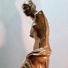 Arte: ESCULTURA DE BRONCE BBRILLANTE CON PEANA DE MARNOL ( 21 KG. ). Lote 158408358