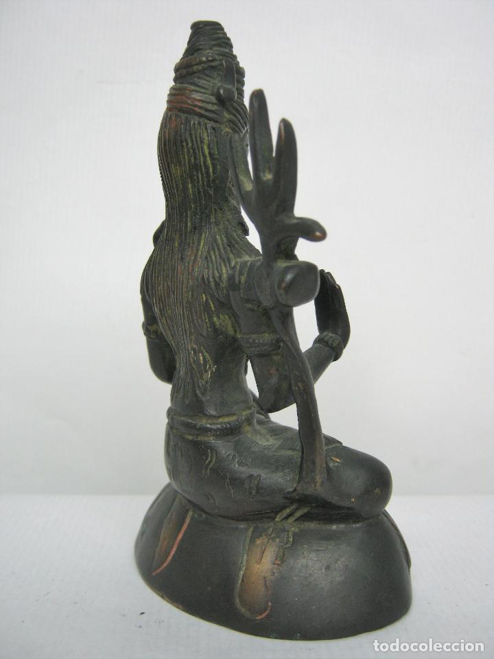 Arte: Bella estatua Buda Budha en Bronce restos policromia - Foto 5 - 158617662
