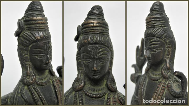 Arte: Bella estatua Buda Budha en Bronce restos policromia - Foto 6 - 158617662