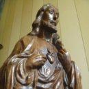 Arte: GRAN SAGRADO CORAZÓN JESUS TALLA AFAMADO ESCULTOR JOSE HERNÁNDEZ PIEZA MUSEO OPORTUNIDAD. Lote 158718326