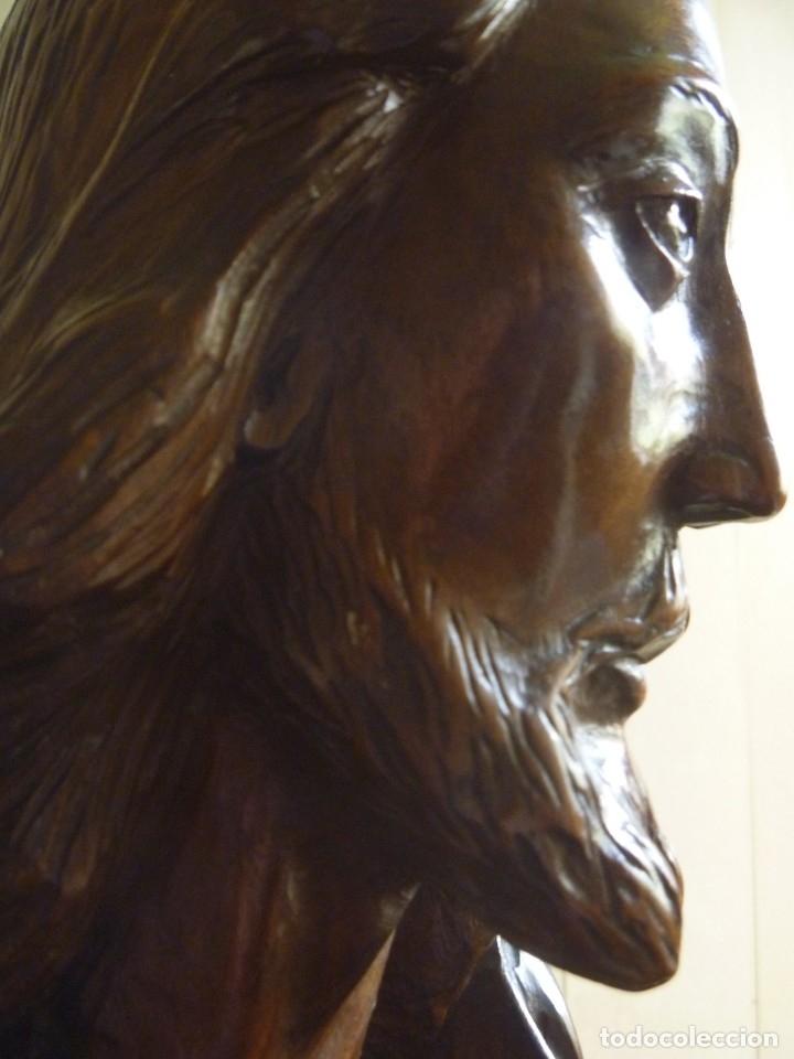 Arte: GRAN SAGRADO CORAZÓN JESUS TALLA AFAMADO ESCULTOR JOSE HERNÁNDEZ PIEZA MUSEO OPORTUNIDAD - Foto 6 - 158718326