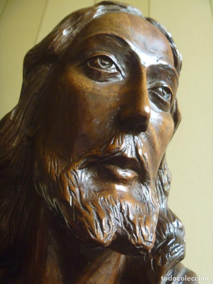 Arte: GRAN SAGRADO CORAZÓN JESUS TALLA AFAMADO ESCULTOR JOSE HERNÁNDEZ PIEZA MUSEO OPORTUNIDAD - Foto 7 - 158718326