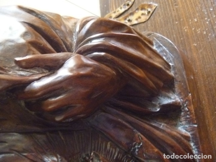 Arte: GRAN SAGRADO CORAZÓN JESUS TALLA AFAMADO ESCULTOR JOSE HERNÁNDEZ PIEZA MUSEO OPORTUNIDAD - Foto 9 - 158718326