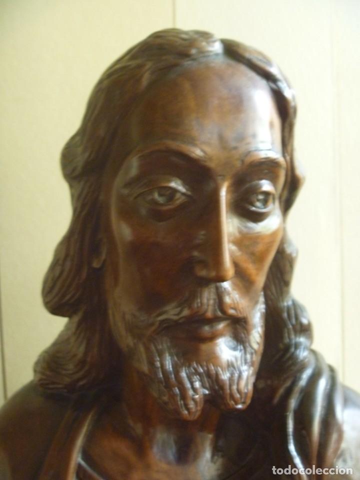 Arte: GRAN SAGRADO CORAZÓN JESUS TALLA AFAMADO ESCULTOR JOSE HERNÁNDEZ PIEZA MUSEO OPORTUNIDAD - Foto 15 - 158718326