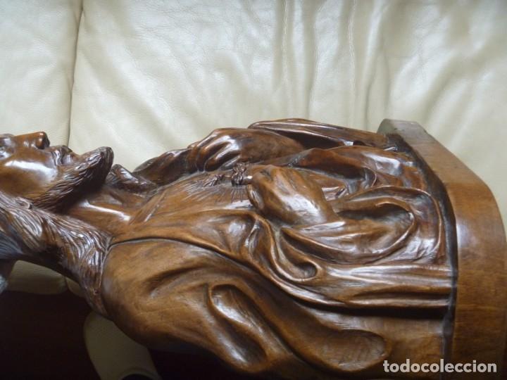 Arte: GRAN SAGRADO CORAZÓN JESUS TALLA AFAMADO ESCULTOR JOSE HERNÁNDEZ PIEZA MUSEO OPORTUNIDAD - Foto 22 - 158718326