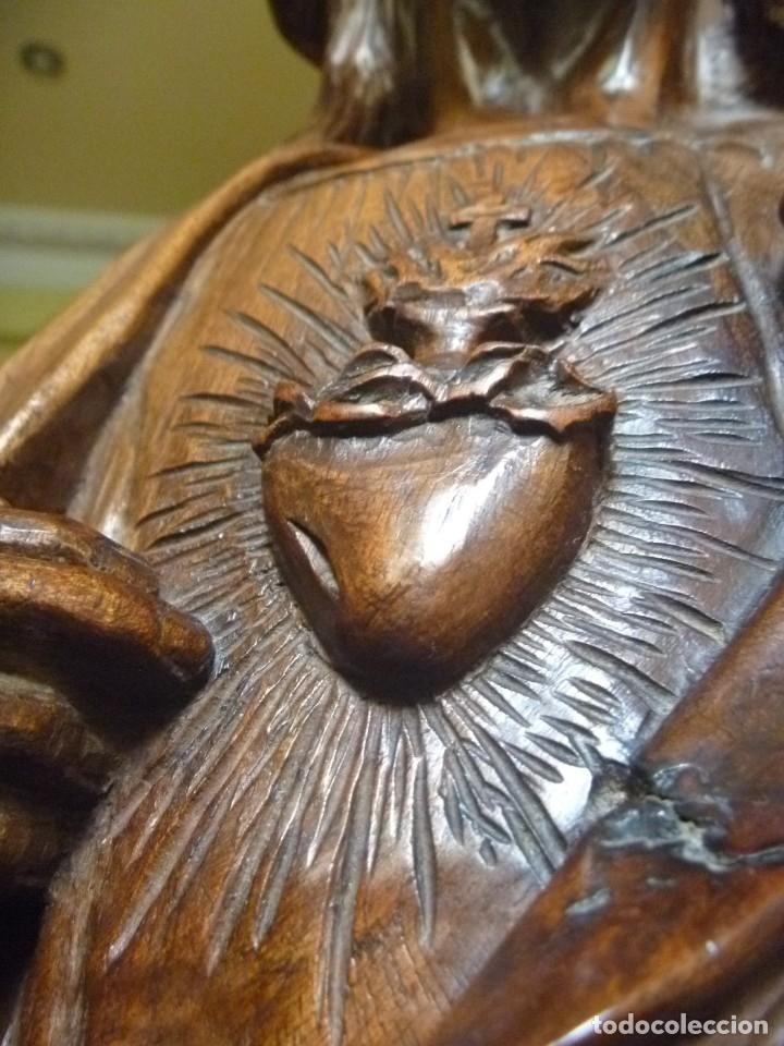 Arte: GRAN SAGRADO CORAZÓN JESUS TALLA AFAMADO ESCULTOR JOSE HERNÁNDEZ PIEZA MUSEO OPORTUNIDAD - Foto 27 - 158718326