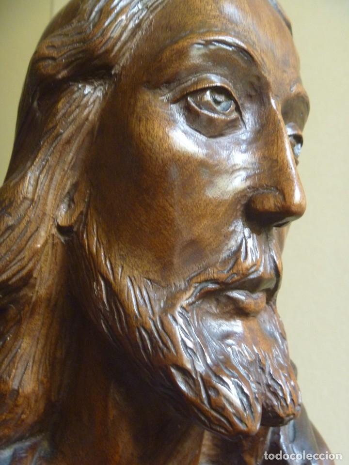 Arte: GRAN SAGRADO CORAZÓN JESUS TALLA AFAMADO ESCULTOR JOSE HERNÁNDEZ PIEZA MUSEO OPORTUNIDAD - Foto 30 - 158718326
