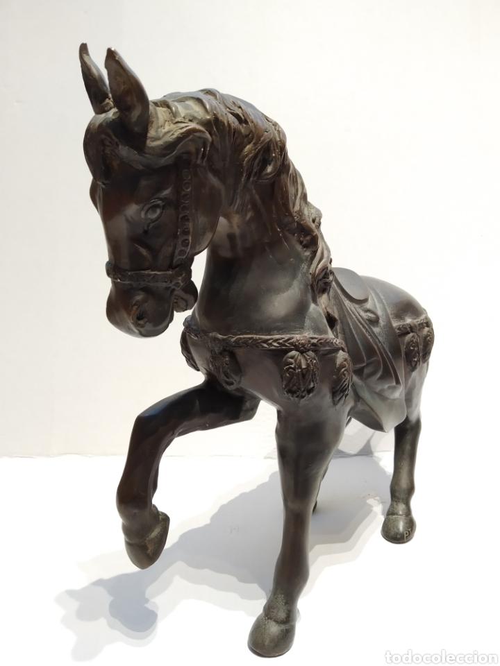 Arte: Antigua escultura - Caballo al paso realizada en bronce. Pierre Jules Mène (París 1810-1879) Firmada - Foto 5 - 158842306