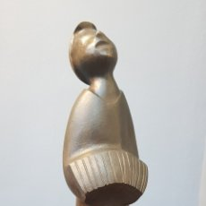 Arte: MARINO AMAYA (ASTORGA 1928- MÁLAGA 2014), PRECIOSA ESCULTURA DE BRONCE, NIÑO MÚSICO, FIRMADA.. Lote 158937621