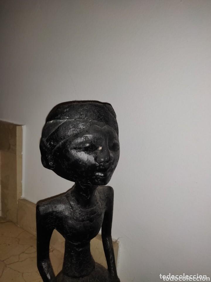 Arte: Escultura tallada madera indígena de los años 60. - Foto 3 - 204629768