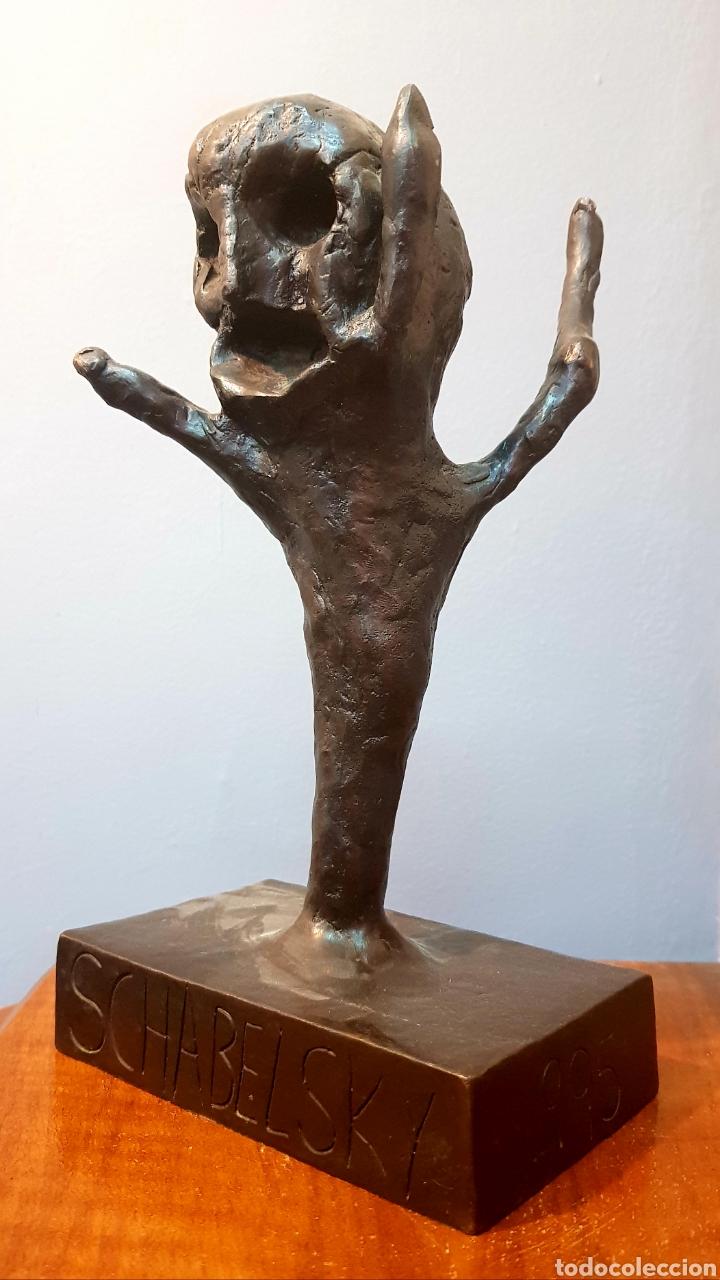 SCHABELSKY, INTERESANTE ESCULTURA BRONCE FIRMADA. (Arte - Escultura - Bronce)
