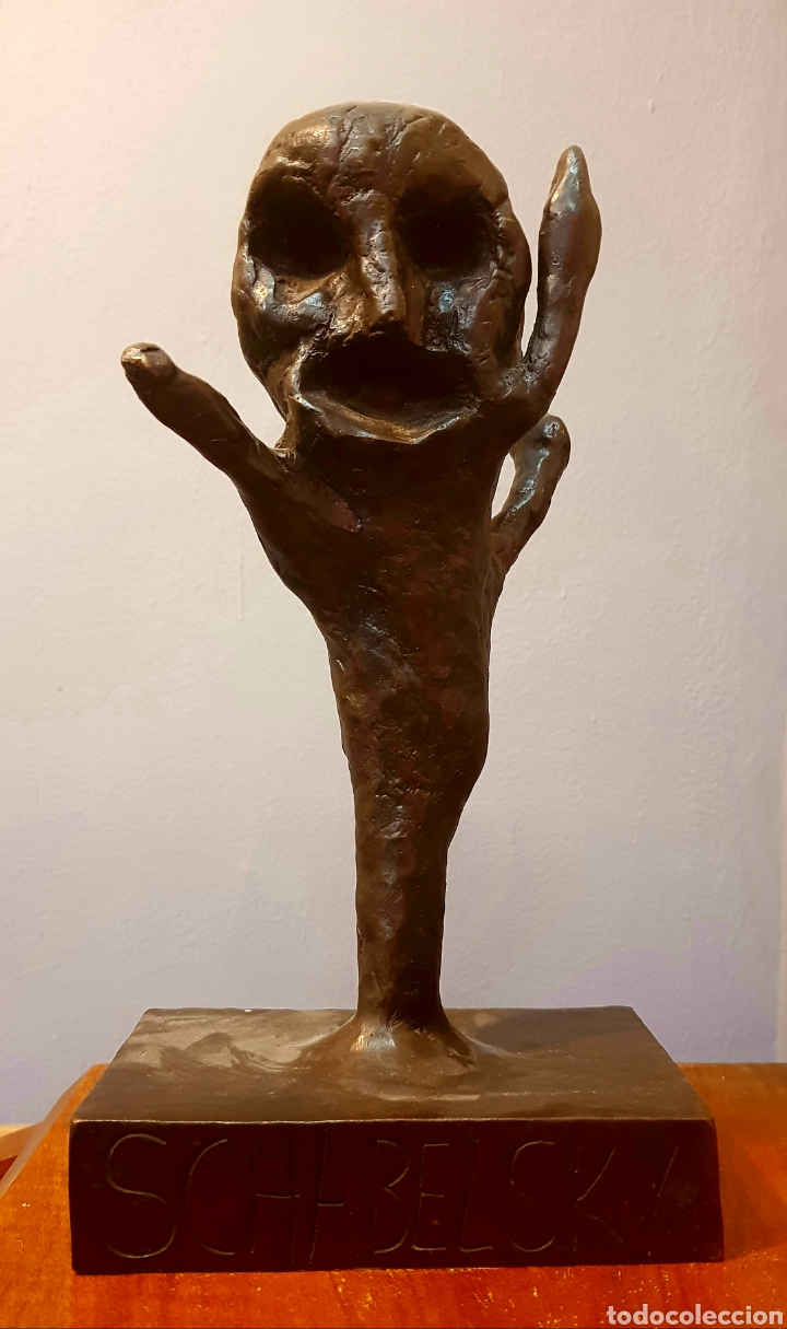 Arte: Schabelsky, interesante escultura bronce firmada. - Foto 2 - 148671094