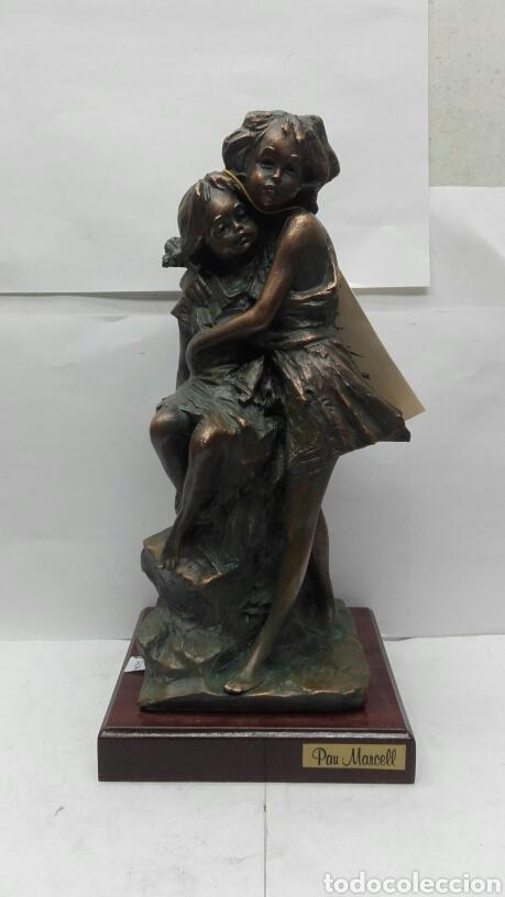 ESCULTURA FIGURA UNICA OBRA DE ARTE DE HERMANAS DE PAU MARCELL - 94/300 (Arte - Escultura - Resina)