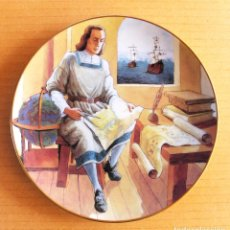 Arte: LLADRÓ. PLATO PORCELANA CRISTOBAL COLON.. Lote 159565982