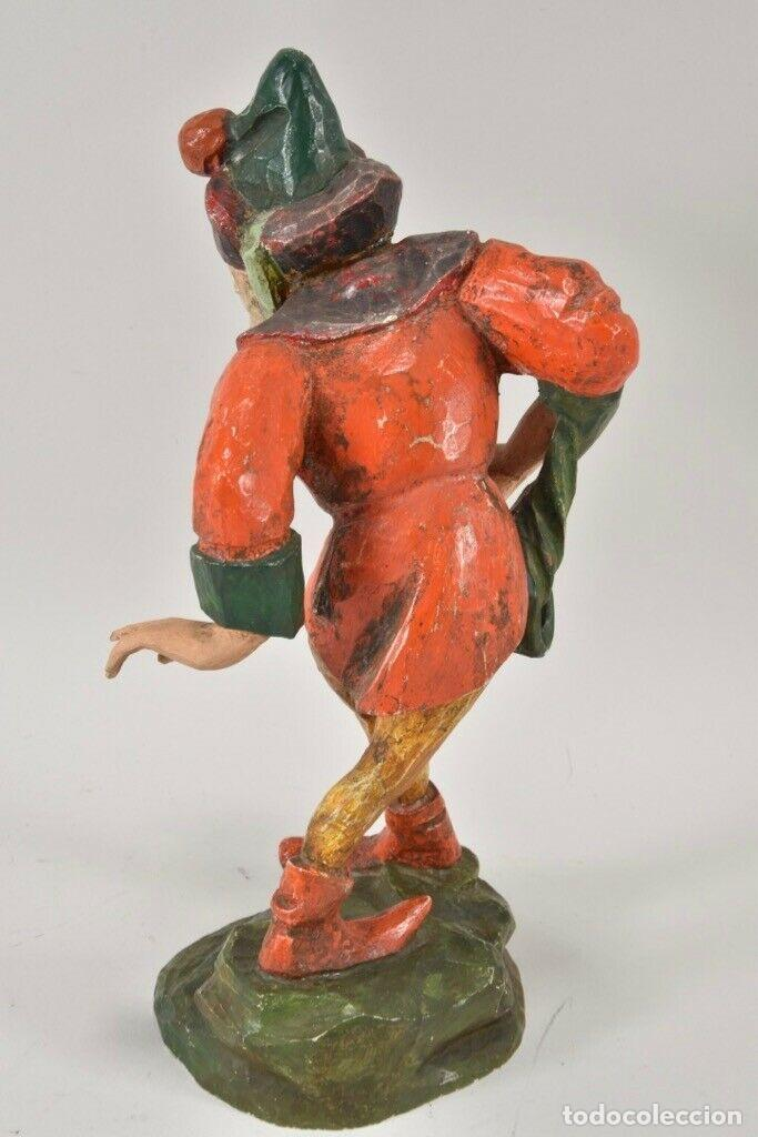 Arte: ANTIGUA TALLA MADERA POLICROMADA personaje escultura, moriskentänzer, 26,5 cm EL TIROL Pp XX A MANO - Foto 2 - 160191434