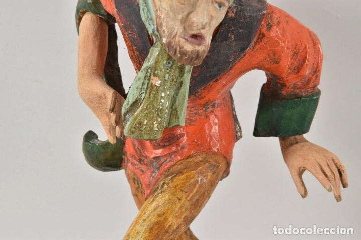 Arte: ANTIGUA TALLA MADERA POLICROMADA personaje escultura, moriskentänzer, 26,5 cm EL TIROL Pp XX A MANO - Foto 6 - 160191434