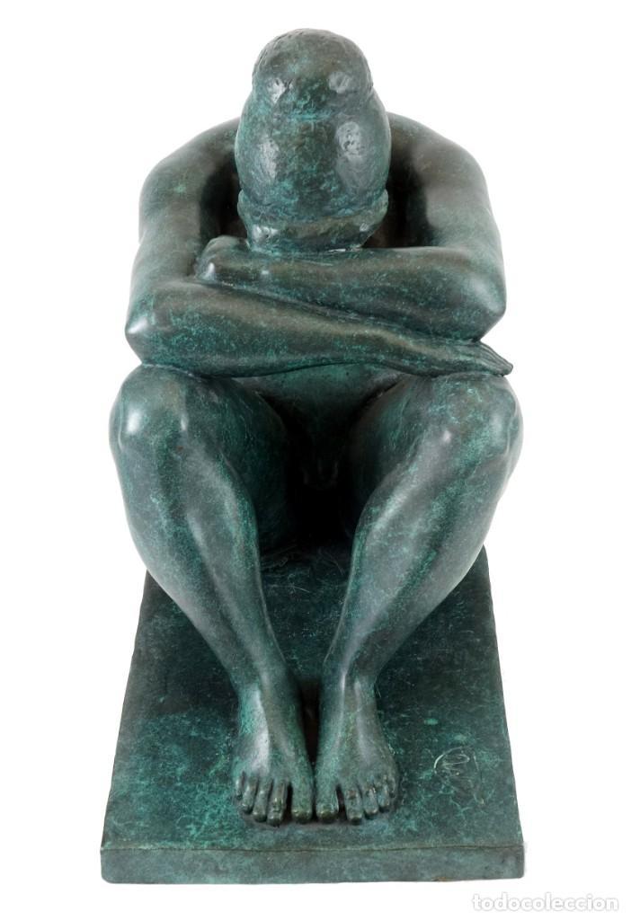Arte: ESCULTURA DE BRONCE PATINADO. ARTE MODERNO POR A. MAILLOL- 1902-1909 (33cm & 8,7kg) - Foto 5 - 152497634