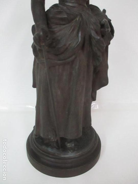 Arte: Preciosa Escultura de Dama - Bronce Patinado - Firma George Van Der Straeten (Bélgica 1856-1928) - Foto 4 - 160929338