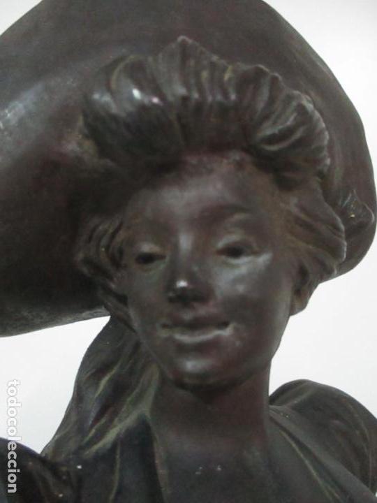Arte: Preciosa Escultura de Dama - Bronce Patinado - Firma George Van Der Straeten (Bélgica 1856-1928) - Foto 9 - 160929338