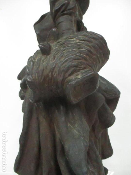 Arte: Preciosa Escultura de Dama - Bronce Patinado - Firma George Van Der Straeten (Bélgica 1856-1928) - Foto 16 - 160929338