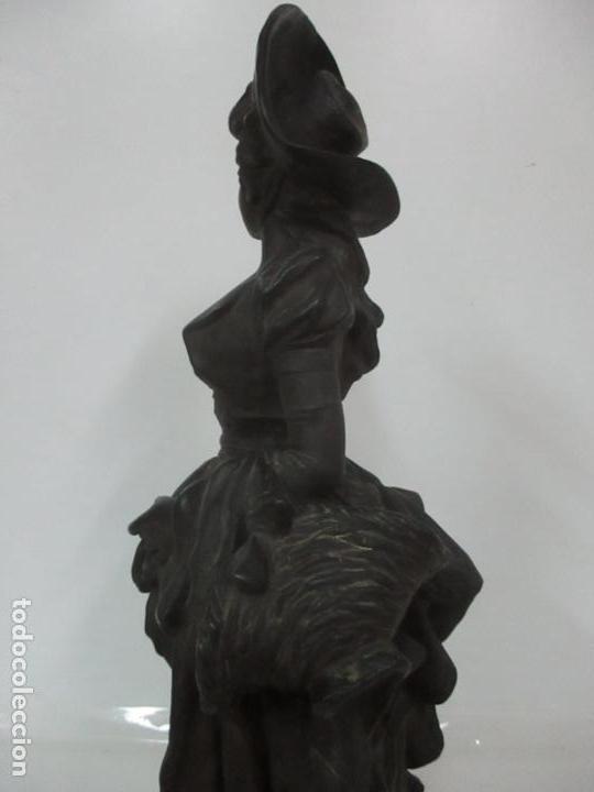 Arte: Preciosa Escultura de Dama - Bronce Patinado - Firma George Van Der Straeten (Bélgica 1856-1928) - Foto 20 - 160929338