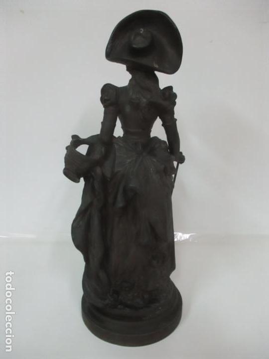 Arte: Preciosa Escultura de Dama - Bronce Patinado - Firma George Van Der Straeten (Bélgica 1856-1928) - Foto 21 - 160929338